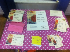 Table containing a range of Open Praise Project books